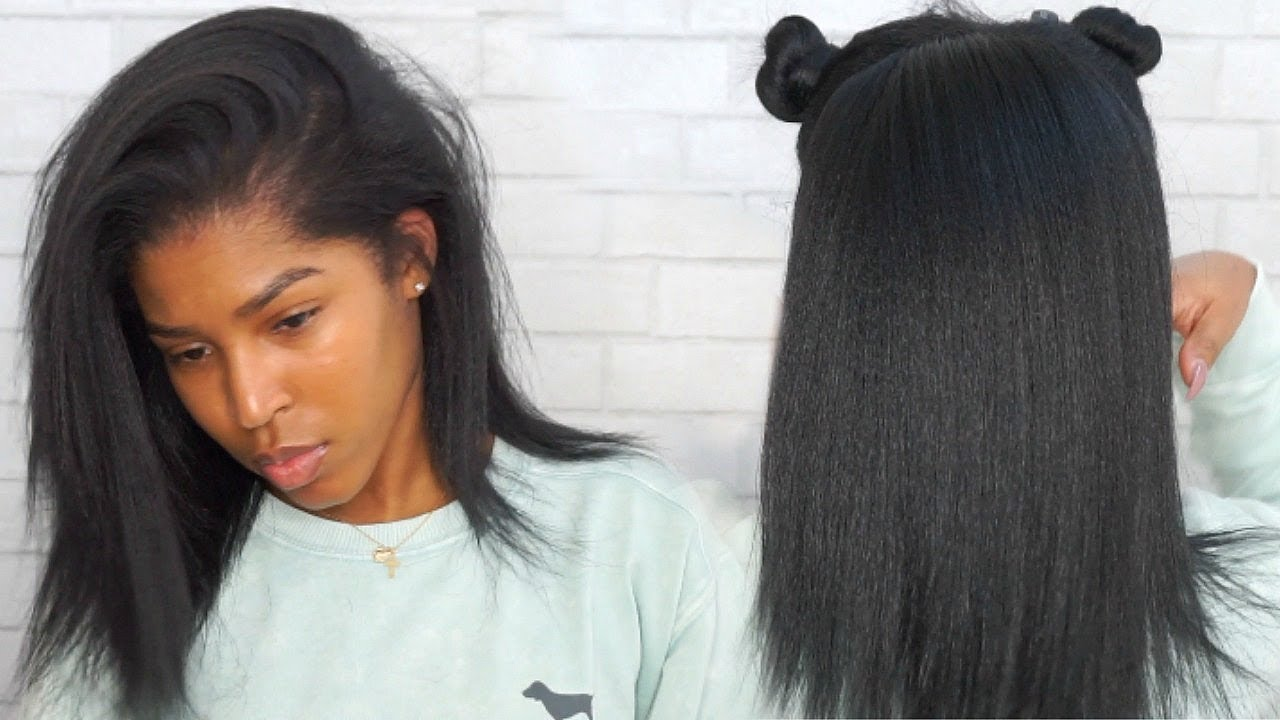 Updated Wash, Blow Dry And Flat Iron Routine! Natural Hair ft. Dark ...