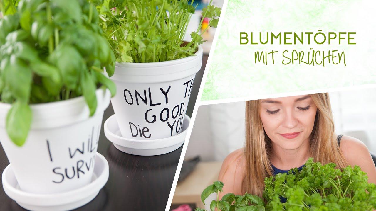 blument pfe mit spr chen f r kr uter und pflanzen youtube. Black Bedroom Furniture Sets. Home Design Ideas