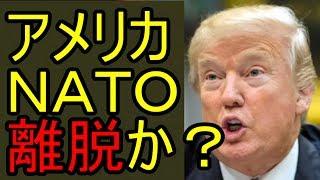 アメリカ NATO離脱か? 注意事項:感想をコメントしていただくのは...