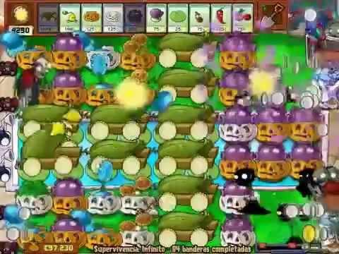 plantas vs zombis supervivencia infinita banderas 1 a 100