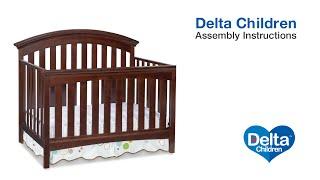 Delta Children Bentley & Peyton 4-in-1 Crib Assembly Video