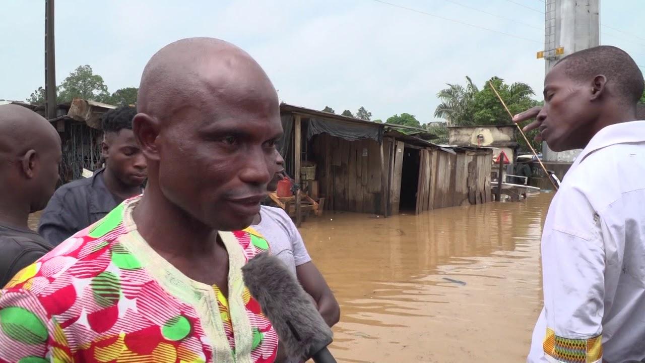 MAI 2019: Les alentours du CHU dans la commune de Yopougon (Abidjan) sous les eaux.
