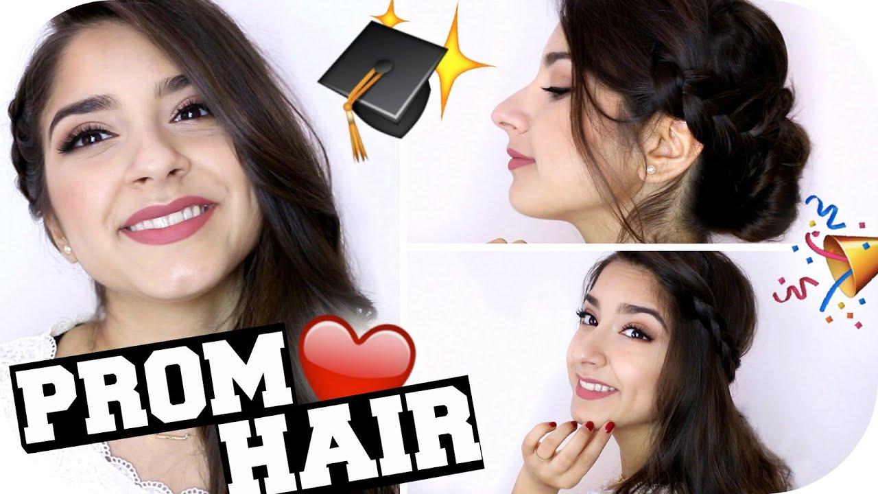 3 Einfache Abschluss Frisuren Zum Selbermachen Sanny Kaur Youtube