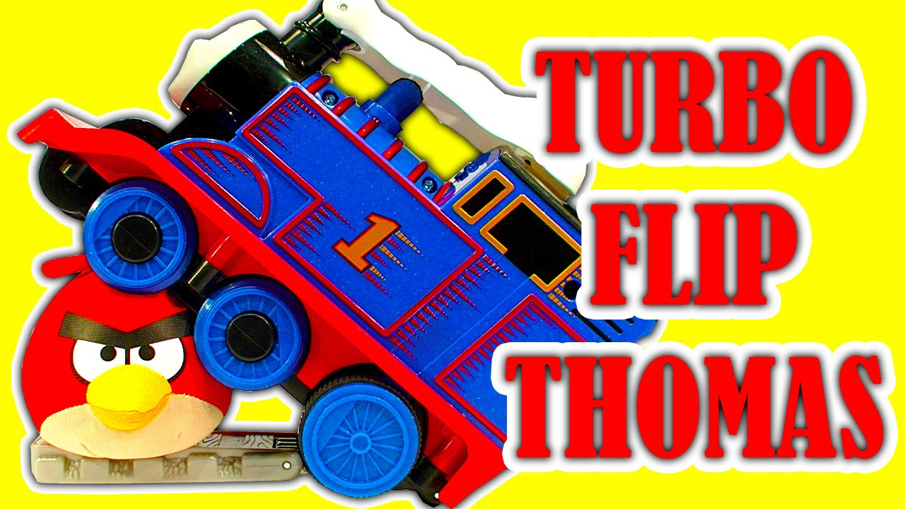 Thomas The Tank Engine Flip Out Sofa Australia Gray Sectional Sofas Turbo Ultimate Stunt Accidents Toy Train Review Youtube