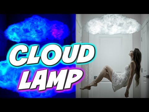 DIY CLOUD LAMP - Light-Up Glow Cloud - How To | SoCraftastic
