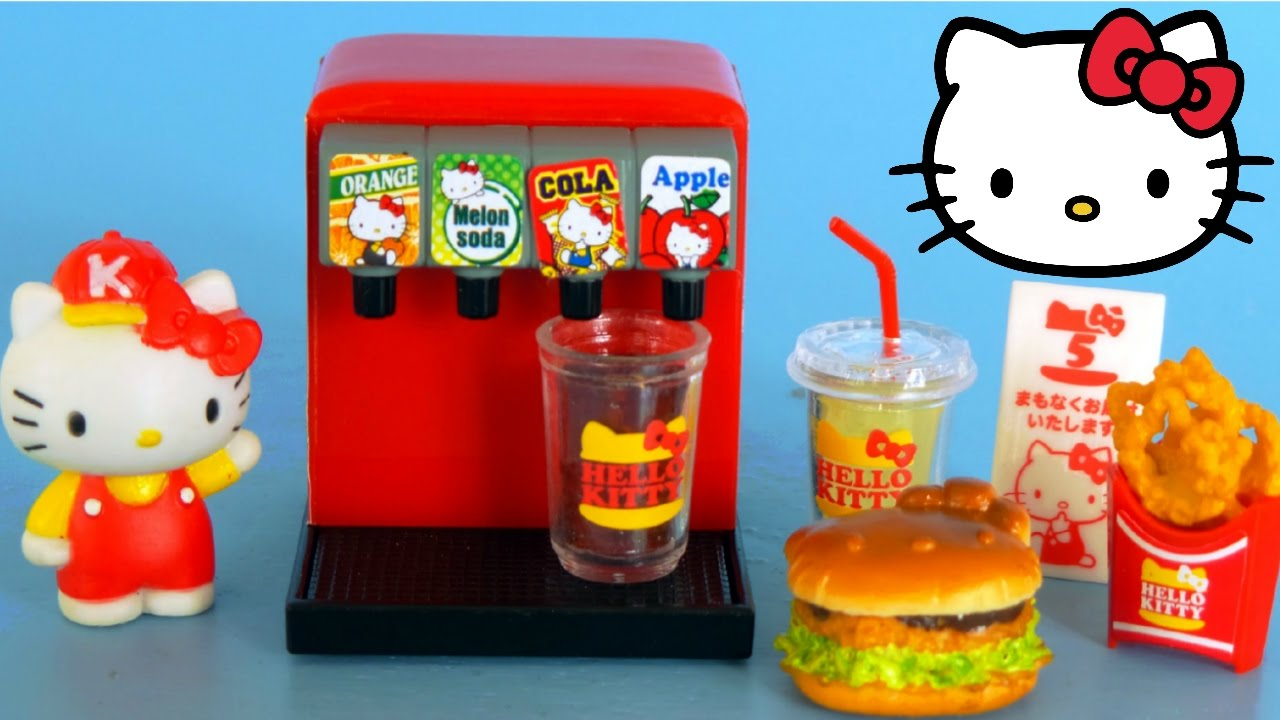 Hello Kitty Toy Food : Hello kitty mini toy kitchen re ment kwawaii unboxing and