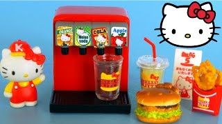 Hello Kitty Mini Toy Kitchen Re ment Kwawaii unboxing and playing  By Sanrio