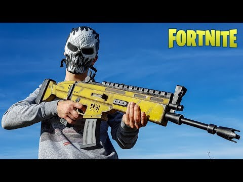 SCAR FROM FORTNITE HOW TO MAKE DIY
