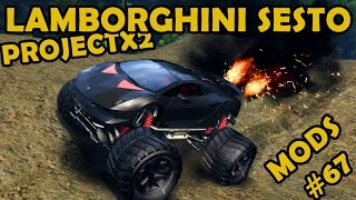 Lamborghini Sesto Elemento Monster Truck At ProjectX2 - Mod Review #67 (Spin Tires)