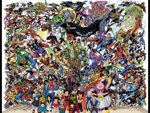 Top 88 Hall of Fame - (DBZ) DragonBall Z / GT vs DC Comics vs Marvel Superheroes