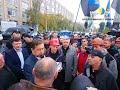 Митинг шахтеров перед зданием ЛОГА :