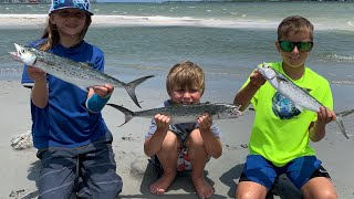 SPANISH MACKEREL Catch Clean and Cook ( HUGE SURPRISE at the BEGINNING )