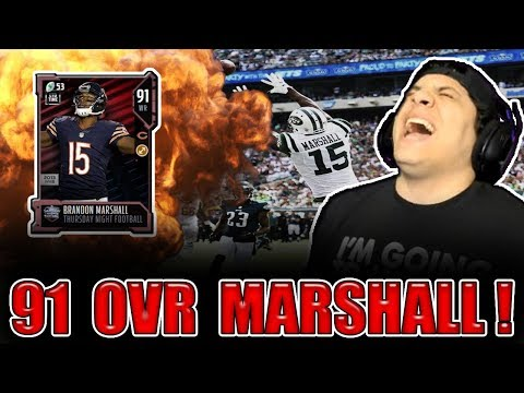Marshall Bullies DBs! (91 Brandon Marshall Gameplay) - Madden NFL 18 Ultimate Team