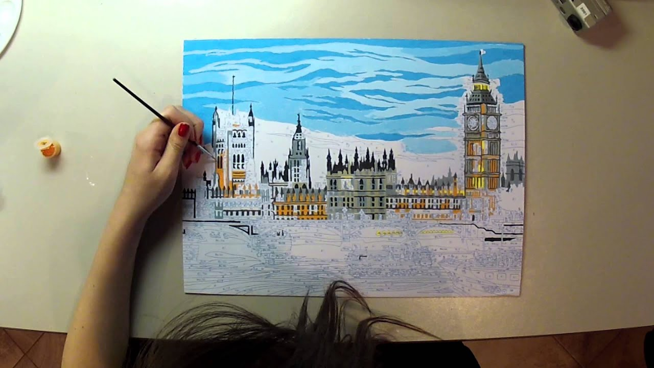 Paint by numbers time lapse