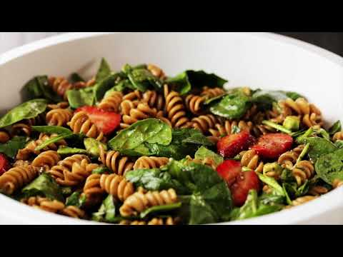How To Make Spinach & Strawberry Pasta Salad | EatingWell