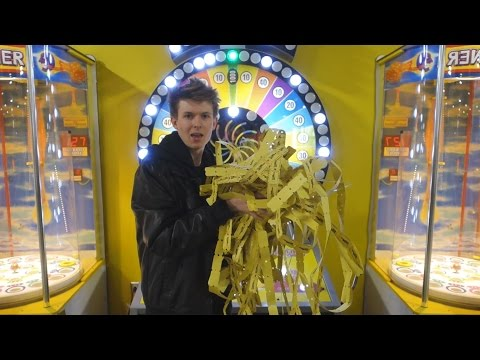 I WON ALL OF THE ARCADE TICKETS!