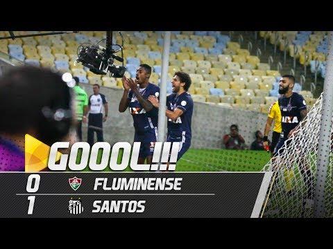 Fluminense 0 x 1 Santos | GOL | Brasileirão (13/06/18)