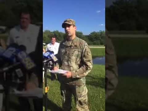 Local officials address the media on flooding issues
