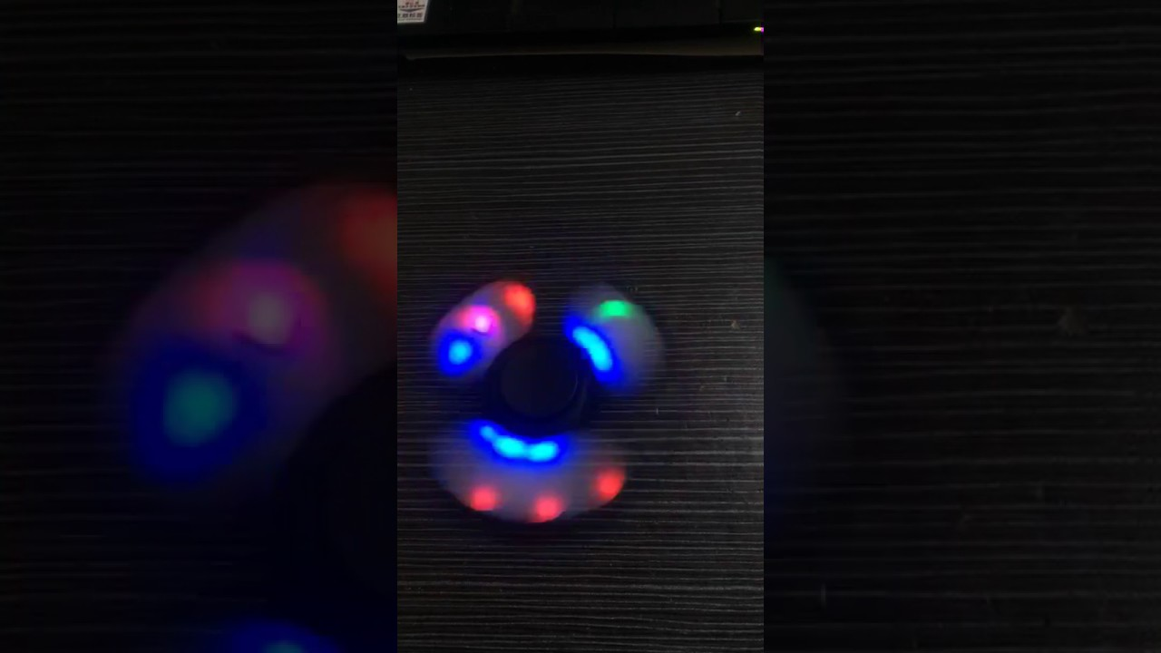 fidget spinner led video with rgb led lights china whosale cheap fidget spinner