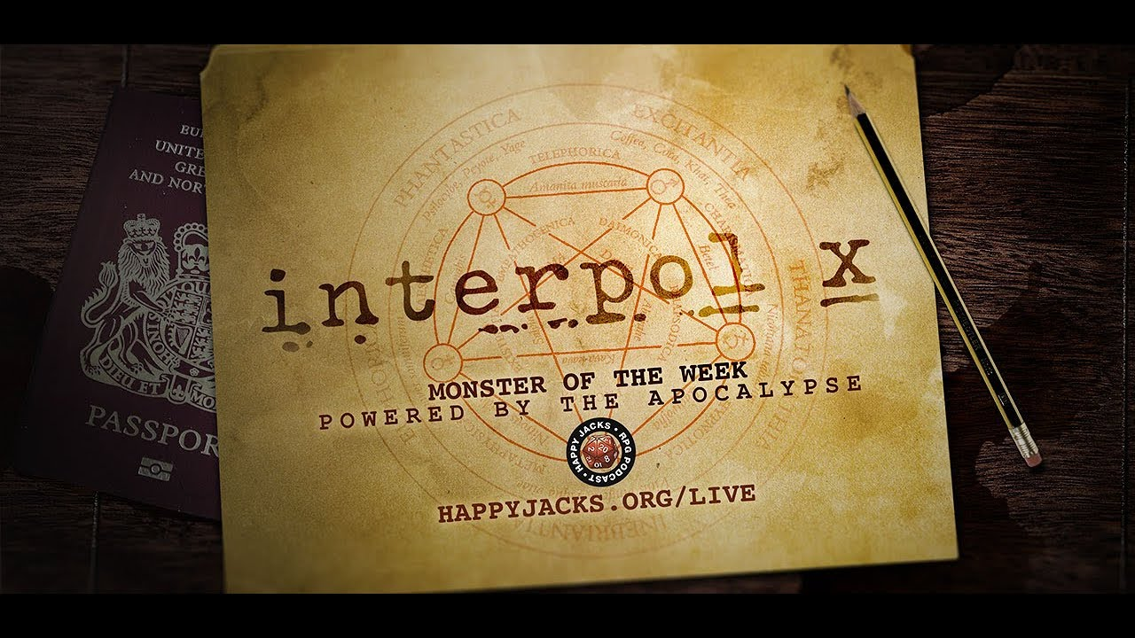 Interpol X: Monster of the Week #00 - Character Creation #pbta #rpg  #tabletop #dnd