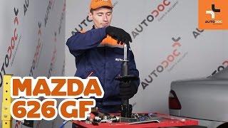 Cómo cambiar Juego de pastillas de freno MAZDA 626 V (GF) - vídeo guía