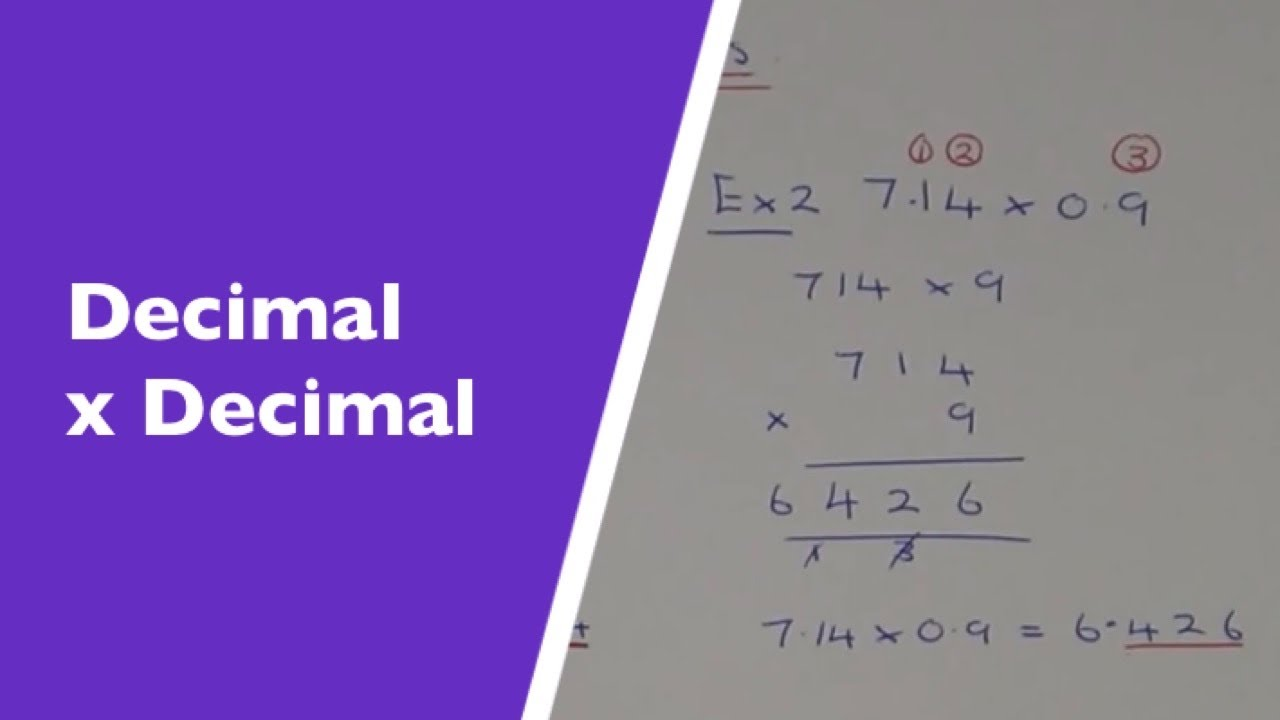 A Quick And Easy Method For Multiplying Decimal Numbers Youtube
