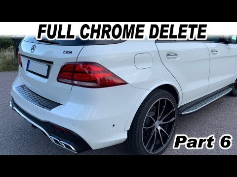 Mercedes Copart W166 GLE Almost FULL Chrome Delete ML To GLE Part 6