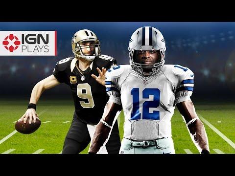 Cowboys vs Saints -  Bobby and Alex Play Madden NFL 16 - IGN Let