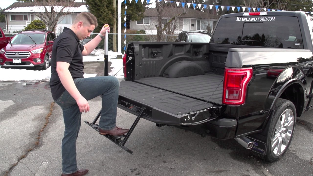 A Quick Look at the 2017 FORD F150 Tailgate Step - YouTube