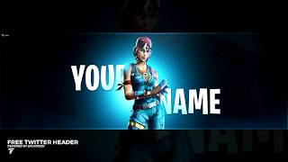 FREE Fortnite Twitter Header Template ( Twitter Header ) FREE DOWNLOAD