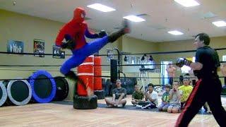 SPIDER-MAN Sparring Match | Kickboxing