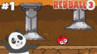 Panda Kırmızı Top 3 Oynuyor! - Red Ball 3 Birinci Bölüm