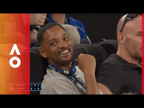 Crowd dedicates song to Will Smith in Rod Laver Arena | Australian Open 2018