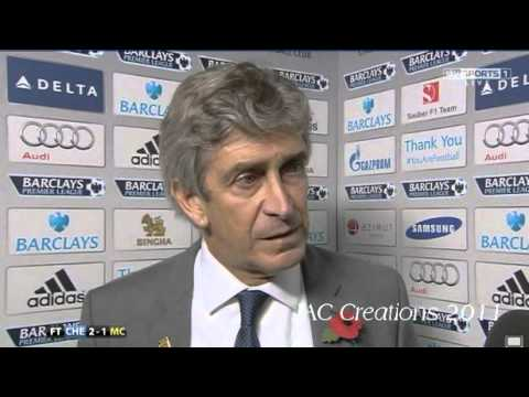 Manuel Pellegrini Post Match Interview Chelsea 2-1 Manchester City