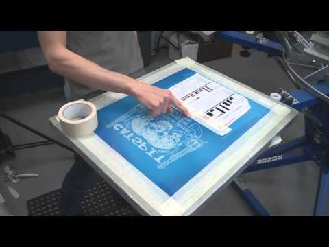 Screen Printing Tee Shirts: Basic Test Print Set Up Production Run Tips
