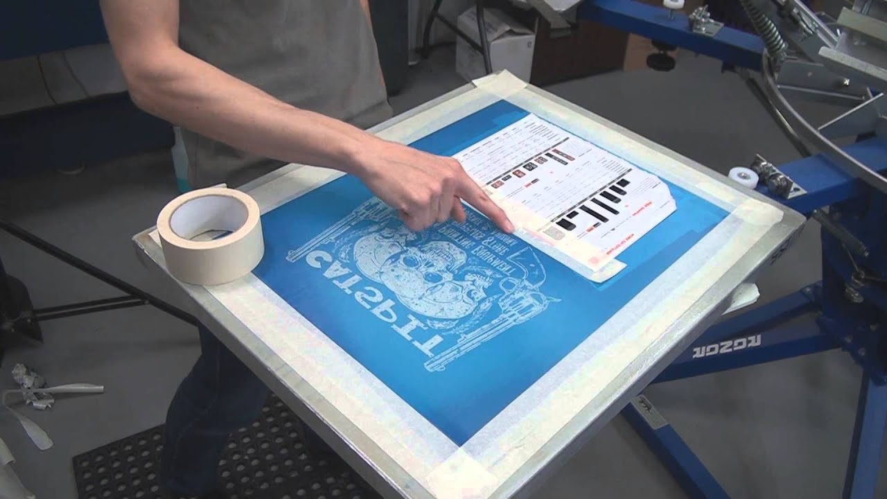 Screen printing tee shirts basic test print set up for Where can i screen print t shirts