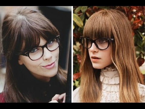 bangs hairstyle with glasses