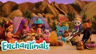 Enchantimals | Raccoon & Friends Sunscape Desert Camping | Stop Motion Video | Videos For Kids