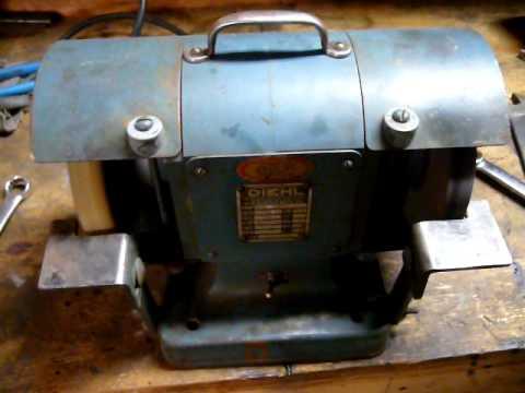 Vintage Diehl 6 Quot Bench Grinder Youtube