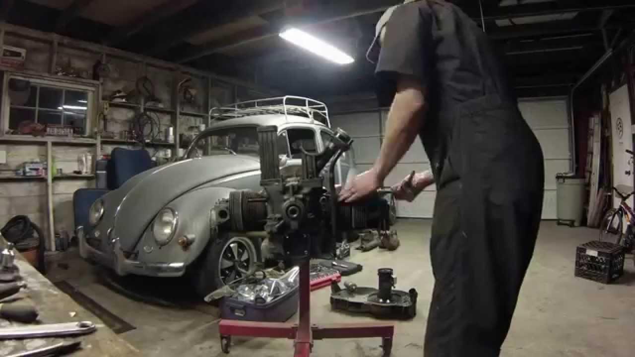 56 Vw Bug Engine Rebuild Phase1 Teardown Youtube