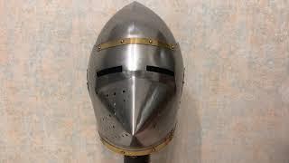 Шлем Хундсгугель Бацинет, Hundsgugel Bascinet Helmet, Nautical NA-36169