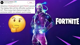 The Future of The Galaxy Skin in Fortnite... (Item Shop or Vaulted)
