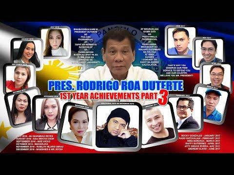 Pres  Duterte 1st Achievements Part 3 - Mr  Riyoh feat  Socmed Warriors