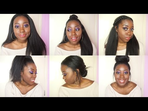 6 Quick And Easy Hairstyles Using Clip In Extensions Relaxed Hair