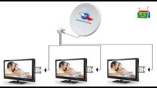 видео Спутниковая антенна, ловим спутник триколор и НТВ+