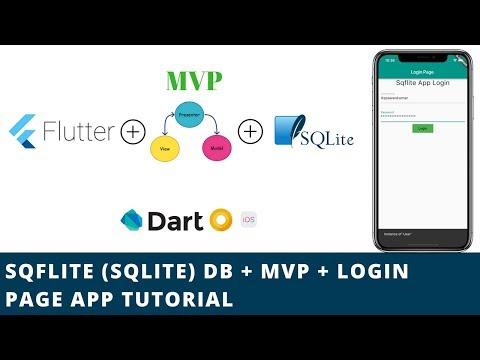 Flutter - SQFLITE (SQLITE) + MVP Architecture + Login App