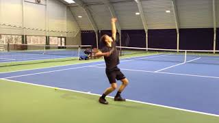 College tennis recruiting video of Patrick Shelepov available fall 2018