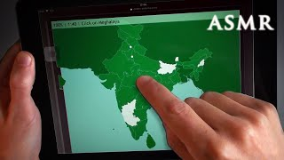 ASMR 1hr Geography Quiz + iPad Tapping | Deep Voice