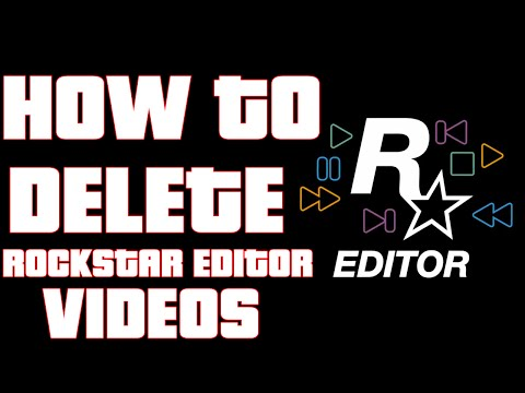 HOW TO DELETE ROCKSTAR EDITOR CLIPS