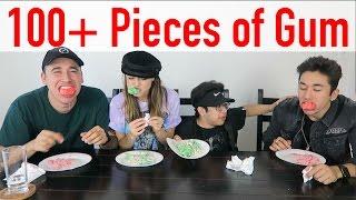 100+ Pieces of Gum Challenge w/ Brennen & BigNik